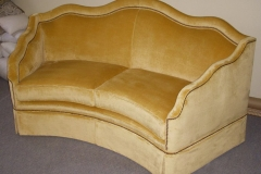 GoldCurvedCouch
